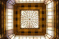 Glass roof geometric in modern building Royalty Free Stock Photography