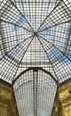 Glass roof of the gum department store in moscow russia Stock Image