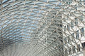 Glass roof of modern building Royalty Free Stock Photo