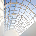 Glass roof of modern building Royalty Free Stock Photos