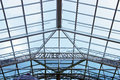 Glass roof of modern building Stock Photo