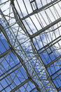 Glass roof modern in the hall of a building Royalty Free Stock Image