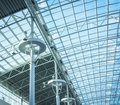 Glass roof of modern office building Royalty Free Stock Photo