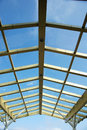 Glass roof and sky Royalty Free Stock Photo