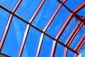 The glass roof structure blue sky Royalty Free Stock Photography