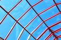 The glass roof structure blue sky Stock Photo