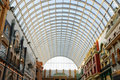 Glass roof structure in west edmonton mall Stock Images