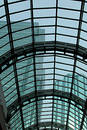 Glass Roofing with Skyscrapes Royalty Free Stock Photo