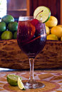 Glass sangria Royaltyfria Foton