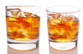 Glass of scotch Stock Photography