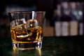 Glass of scotch whiskey Royalty Free Stock Photography