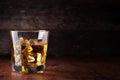Glass of scotch whiskey Royalty Free Stock Photo