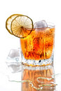 Glass of scotch whisky Royalty Free Stock Images