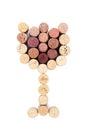 Glass shaped wine corks Royalty Free Stock Photo