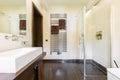 Glass shower in elegant bathroom Royalty Free Stock Photo