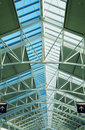 Glass skylight roof two arrows Royalty Free Stock Photo