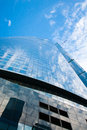 Glass skyscraper and sky Royalty Free Stock Photo