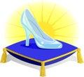 Glass Slipper on Pillow/eps