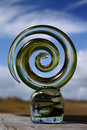 Glass snake sculpture Royalty Free Stock Image