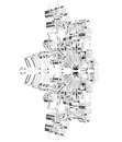 Glass Snowflake Royalty Free Stock Image