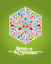 Glass snowflake christmas background with vector illustration Royalty Free Stock Photography