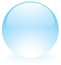 Glass sphere blue Royalty Free Stock Photo