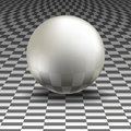Glass sphere on a gray background Stock Photography