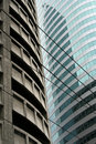 Glass and steel manila high rise architec Royalty Free Stock Photos