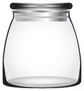 Glass storage jars tight sealing lid keeps items fresh vector Stock Photo