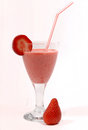 Glass of strawberry juice Royalty Free Stock Photo