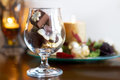 Glass of sweet chocolate Royalty Free Stock Photography