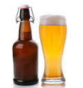 Glass and Swing Top Beer Bottle Royalty Free Stock Photo