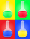 Glass test tube with color liquid vector illustrat illustration isolated colored background Royalty Free Stock Photo