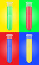 Glass test tube with color liquid vector illustrat illustration isolated colored background Royalty Free Stock Photography