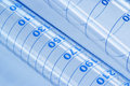 Glass test tubes with markings closeup of precise measuring Royalty Free Stock Photo