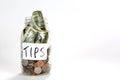 Glass Tips Jar Royalty Free Stock Photo