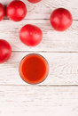 Glass of tomato juice Royalty Free Stock Photo