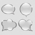Glass Transparency Speech Bubble Vector Royalty Free Stock Photo