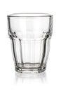 Glass tumbler isolated on white Royalty Free Stock Photo