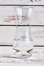 Glass vase with water. Royalty Free Stock Photo