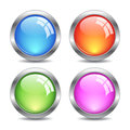 Glass vector buttons Royalty Free Stock Image