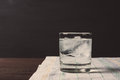 Glass of vodka on the rocks Royalty Free Stock Photo
