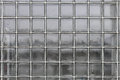Glass wall background pattern of transparent cube Stock Image