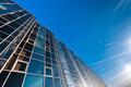 Glass wall of office building Royalty Free Stock Photo