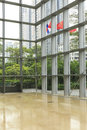 modern glass office building wall Royalty Free Stock Photo