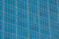 Glass wall of windows on a skyscraper Royalty Free Stock Photo