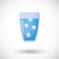 Glass of water flat icon