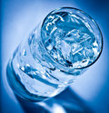 Glass of water with ice Stock Image