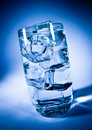 Glass of water with ice Stock Photography