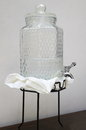 Glass water jug clear cool Royalty Free Stock Photo